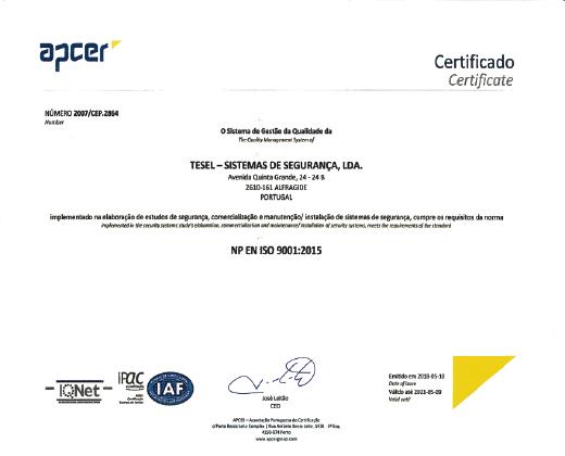 Certificado Tesel